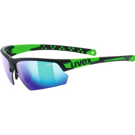 UVEX Sportstyle 224 Sportsbriller, black mat green/green